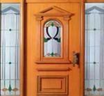 Haustür aus Holz